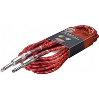 Stagg 6m Vintage Tweed Instrument Cable Red