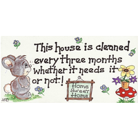 This House Is Cleaned… Pack Of 12