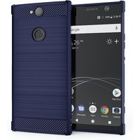CASEFLEX SONY XPERIA XA2 PLUS CARBON ANTI FALL TPU CASE - BLUE