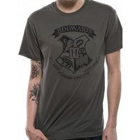 Harry Potter - Distressed Hogwarts (Unisex)  Grey Small