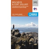 Ben Nevis and Fort William, the Mamores and the Grey Corries, Kinlochleven and Spean Bridge by Ordnance Survey (Sheet map,...