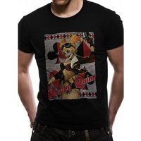 Justice League Comics - Harley Quinn Gun Men's Large T-Shirt - Black
