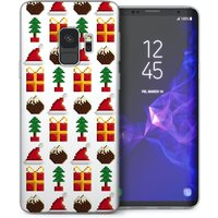 CASEFLEX SAMSUNG GALAXY S9 RETRO GAME CHRISTMAS PRESENTS & PUDDINGS PATTERN CASE / COVER (3D)