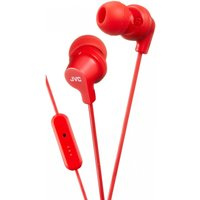 JVC HAFR15R Colourful In-Ear Headphones with Remote & Mic Red