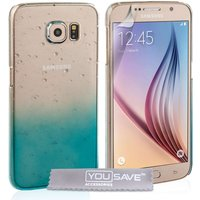 YouSave Samsung Galaxy S6 Raindrop Hard Case - Blue