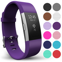 'Yousave Fitbit Charge 2 Strap Single (large) - Plum