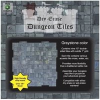 Dry Erase Dungeon Tiles: Graystone 10 Inch Square  (9 per pack)