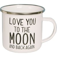 Sass & Belle Love You To The Moon Enamel Mug