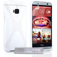 YouSave Accessories HTC One M9 X-Line Gel Case - White