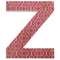 Letter Z Wall Plaque