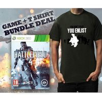 Battlefield 4 Game (Includes China Rising DLC) & You Enlist Khaki T-Shirt Large