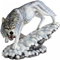 Winters Ghost Wolf Statue