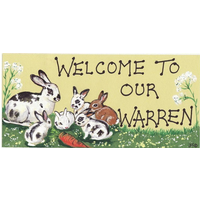 Welcome To Our Warren Smiley Sign Pack Of 12