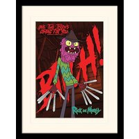 Rick and Morty - Scary Terry Mounted & Framed 30 x 40cm Print