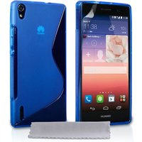 Caseflex Huawei Ascend P7 S-Line Gel Case - Blue