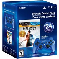 inFamous Collection Game and Official Sony Blue Wireless Dualshock Controller