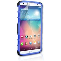 YouSave Accessories LG G Pro 2 Stand Combo Case - Blue-Black