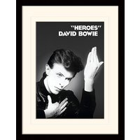 David Bowie - Heroes Mounted & Framed 30 x 40cm Print