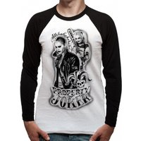 Suicide Squad - Property Of Men's X-Large Baseball Tee - White