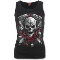 Day of the Dead Women's Small Bikers Razor Back Top - Black