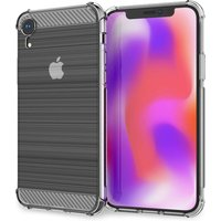 Caseflex iPhone XR Carbon Fibre Effect Gel Case - Clear