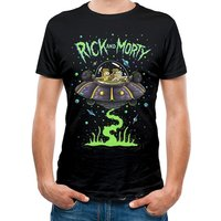 Rick And Morty - Space Men's Small T-Shirt - Black