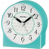 Seiko QHE136L Sweep Second Hand Beep Alarm Clock Blue