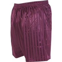 Image of Precision Striped Continental Football Shorts 34-36 inch Maroon