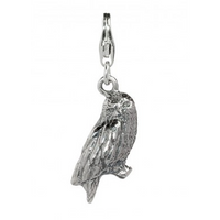 Sterling Silver Hedwig Owl Clip on Charm