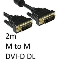 DVI-D Dual Link (M) to DVI-D Dual Link (M) 2m Black OEM Display Cable
