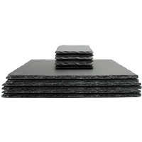 Natural Slate Placemats With Coasters Quality Contemporary Kitchenware M&W 12pc New