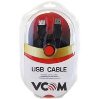 VCOM 2.0 A (M) to USB 2.0 A (F) 3m Black Retail Packaged Extension Data Cable
