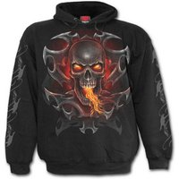 Fire Dragon Men's Small Hoodie - Black