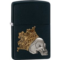 Zippo King Skull Black Matte Regular Lighter