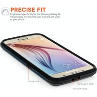 Caseflex Samsung Galaxy S6 Tough Armor Case - Metal Slate