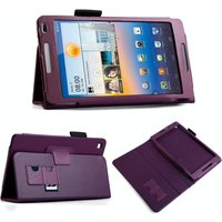 YouSave Accessories Huawei Mediapad M1 Leather-Effect Stand Case - Purple