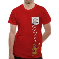 Scooby Doo - Scooby Pocket Men's X-Large T-Shirt - Red