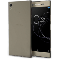 Sony Xperia XA1 Plus Ultra Thin Gel Case - Smoke Black