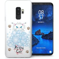 CASEFLEX SAMSUNG GALAXY S9 PLUS ANGRY CAT BUBBLES CASE / COVER (3D)