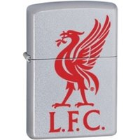 Zippo Liverpool FC (Official Printed Crest) Satin Chrome Windproof Lighter