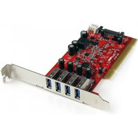 4 Port PCI SuperSpeed USB 3.0 Adapter Card with SATA / SP4 Power