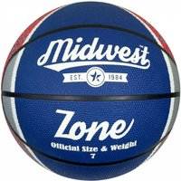 Midwest Zone Basketball Blue/White/Red Size 7