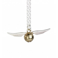 Sterling Silver Golden Snitch Charm Necklace