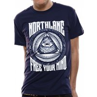 Northlane - Free Your Mind Men's Small T-Shirt - Blue