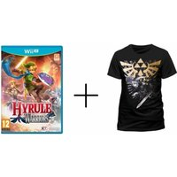 Hyrule Warriors Wii U Game + Zelda Gold Link Logo T-Shirt Medium