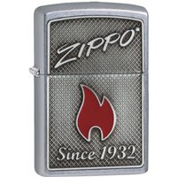 Zippo and Flame Street Chrome Finish Windproof Lighter