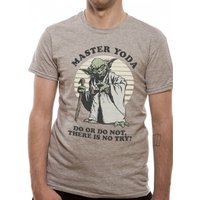 Star Wars - Yoda Do Or Do Not Men's Medium T-Shirt - Grey
