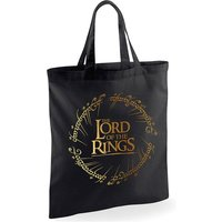 Lord Of The Rings - Gold Foil Logo Tote Bag - Black