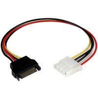 12in SATA to Molex LP4 Power Cable Adapter Female to Male