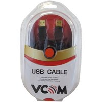 VCOM USB 2.0 A (M) to USB 2.0 A (M) 3m Black Retail Packaged Data Cable